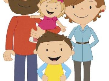la famiglia - costituisce il puzzle della famiglia e dei suoi membri.