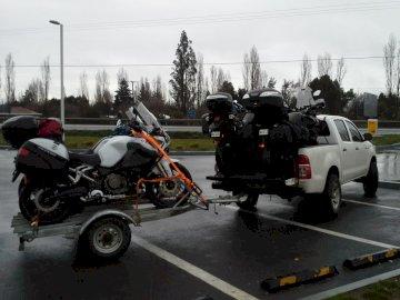 motocicletas - preparando para a viagem