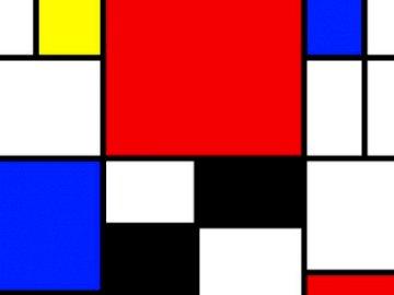 PIET MONDRIAN Composition 4 - Table by PIET MONDRIAN (Composition 4) - The grid
