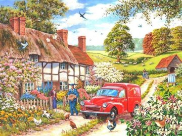 English landscape. - Puzzle: English landscape.