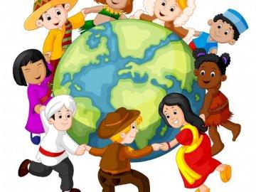 Niños del mundo - Los niños del mundo están tomados de la mano.
