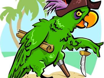 Pirat Ara - Papuga pirat rysunek bajka