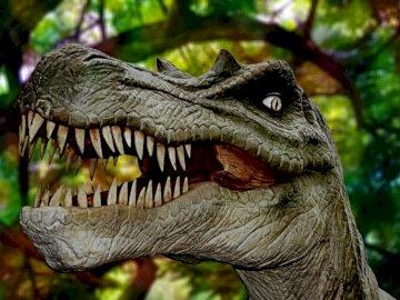 Dinozaur - Głowa dinozaura T-rexa