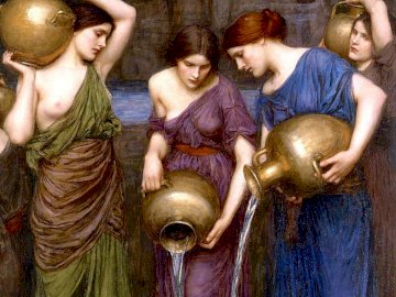 Danaids, mythology - Greek mythology, danaids, art