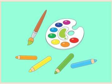 Stifte und Farben - Buntstifte und Farben