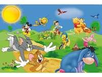 Personajes de cuento de hadas - Una sugerencia de rompecabezas para los niños más pequeños.