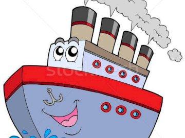 Transporte de transporte a pé - mijloc de transport maritim. Um close-up de um logotipo.