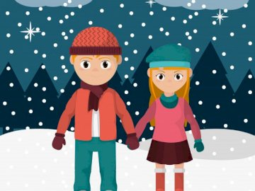 SNOWY JIGSAW PUZZLE - SNOWY WEATHER PUZZLE GAME.