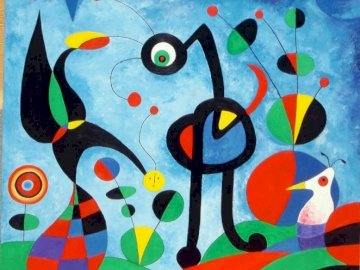 The garden - Joan Miro works puzzles.