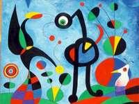 El jardin - Rompecabezas de obras de Joan Miro.