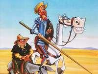 Don Quichot de la Mancha en Sancho Panza