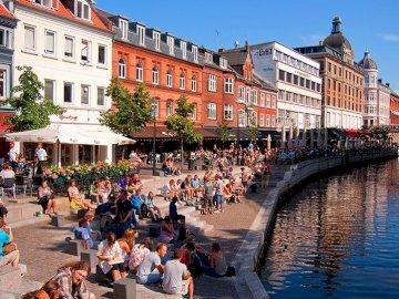 Aarhus, Dänemark - Aarhus-Kanal, Dänemark, Europa