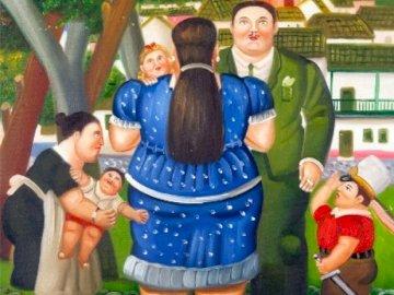 Rodzina - Botero - sceny z życia rodziny, Botero