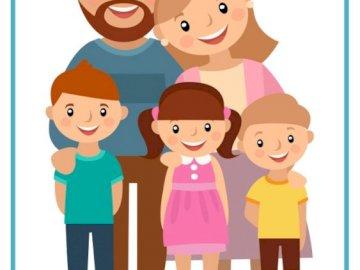 Rodzinka - Ułóż puzzle, mam nadzieję, że nie sprawią Ci trudności. Powodzenia