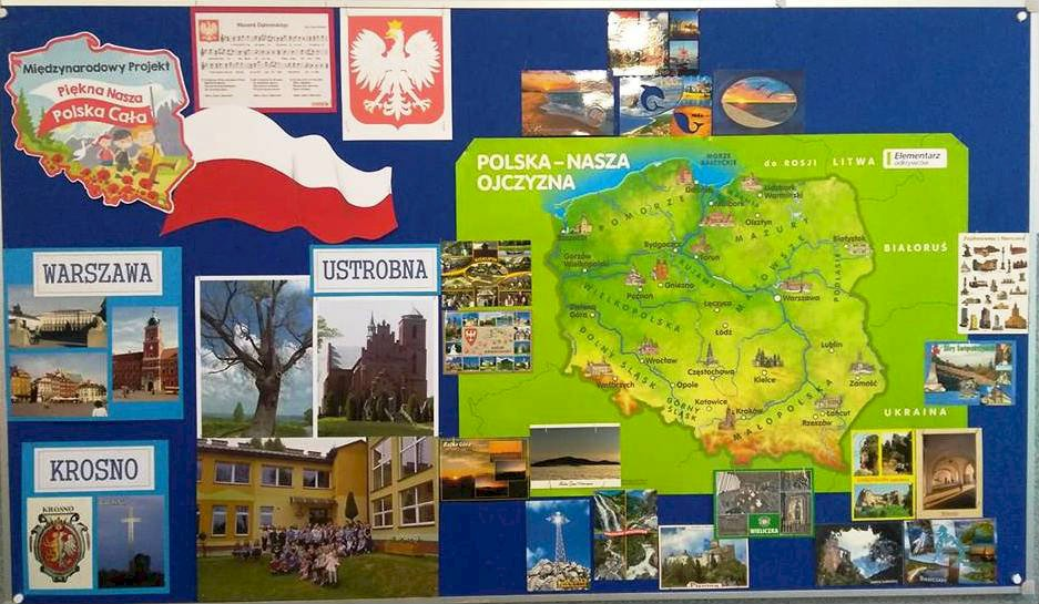 """Polska - nasza mała Ojczyzna. - Pamiętasz nasz zeszłoroczny projekt? Spróbuj """"naprawić"""" naszą gazetkę."""