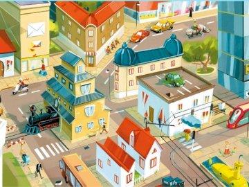 Ruch w mieście - Ruch w mieście - ułóż puzzle.