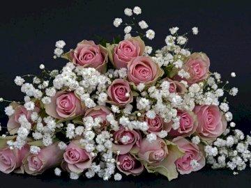 ślubny bukiet - Bukiet róż ślubny bukiet