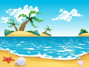 La playa en verano - Este puzzle está hecho para que los niños y niñas más pequeños puedan disfrutar de hacer puzzle