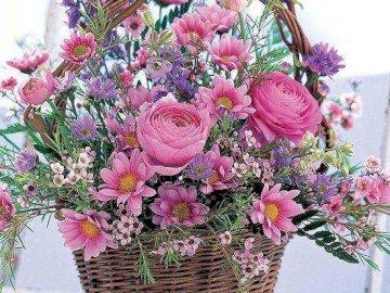Kwiaty na poprawę humoru - Bukiet różnych kolorowych kwiatów