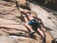 climbing man -