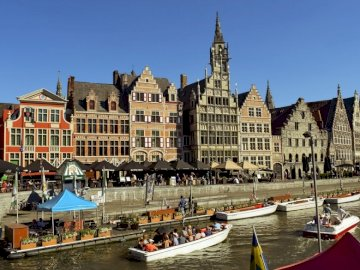 Panorama Ghent - Belgia krajobraz -------------------