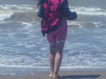 milena valentina - milena valentina en la playa