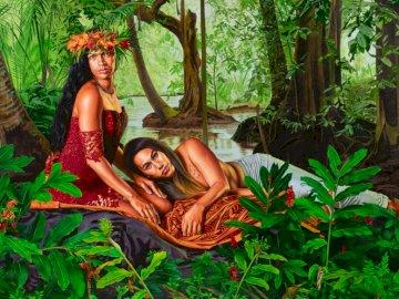 Kehinde Wiley - sztuka naiwna, odpoczywając w dżungli