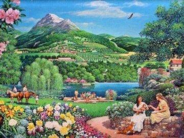 Biblijny krajobraz. - Malarstwo> Biblijny krajobraz.