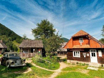 Zakarpacie Ukraina - skansen Kolochava panorama