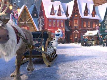 замръзналото кралство - зимна картина