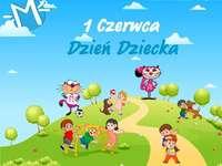 Dzień Dziecka - Dzień dziecka. Dzień Dziecka. Dzień Dziecka 2020 - puzzle. Puzzle stworzone z myślą o dniu dzie