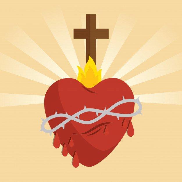 Sagrado Corazón de Jesús - Dibujo Sagrado Corazón de Jesús (4×4)