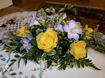 Blumengesteck - Blumen zum Hochzeitstag