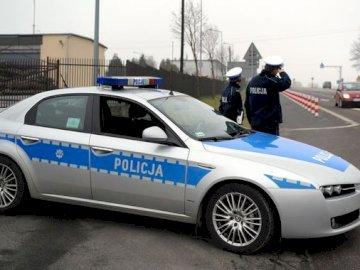 Samochód policyjny - Samochód policyjny układanka dla dzieci
