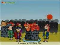 Dieu fait descendre le feu du ciel au Mont Carmel.