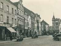 Szprotawa na starej fotografii - Fotografia przedstawia życie w naszym mieście w 1938 roku.