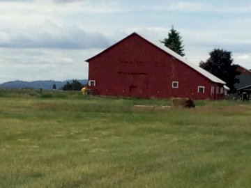 old red barn - old red barn on Myer RD