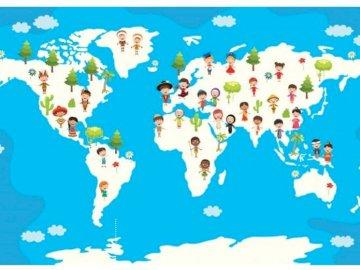 dzieci świata - dzieci z różnych kontynentów, dzieci świata, stroje narodowe