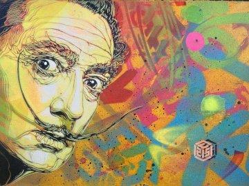 Salvador Dali - Salvador Dali i jego portret