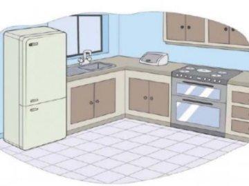 Keuken puzzels - Maak de keukenpuzzel
