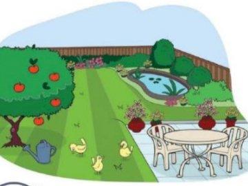 Градински пъзели - Оформете пъзела на градината