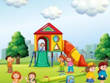 Dzieci, zabawa, plac zabaw - dzieci, plac zabaw, zabawa, dzień dziecka