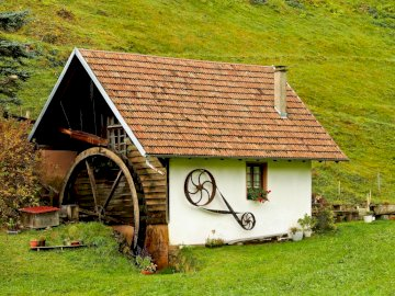 Watermill - old buildings - the use of water power