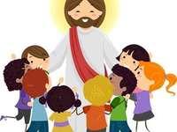 Jesús y niños