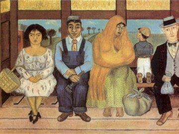Frida Kahlo - The Bus - Frida Kahlo, painting, art, mexico, figures