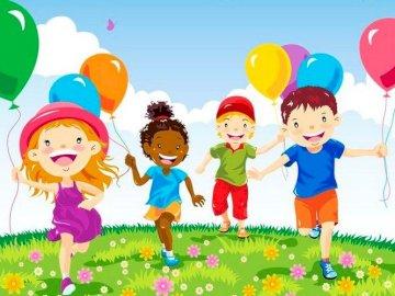 La journée des enfants - Puzzles pour enfants, jardin d'enfants, journée des enfants