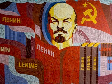 Instagram.com/soviet_artefacts - Illustrazione di Lenin. San Pietroburgo