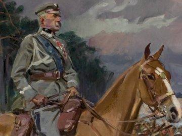 Jozef Pilsudski - Józef Piłsudski i Kasztanka, W. Kossak