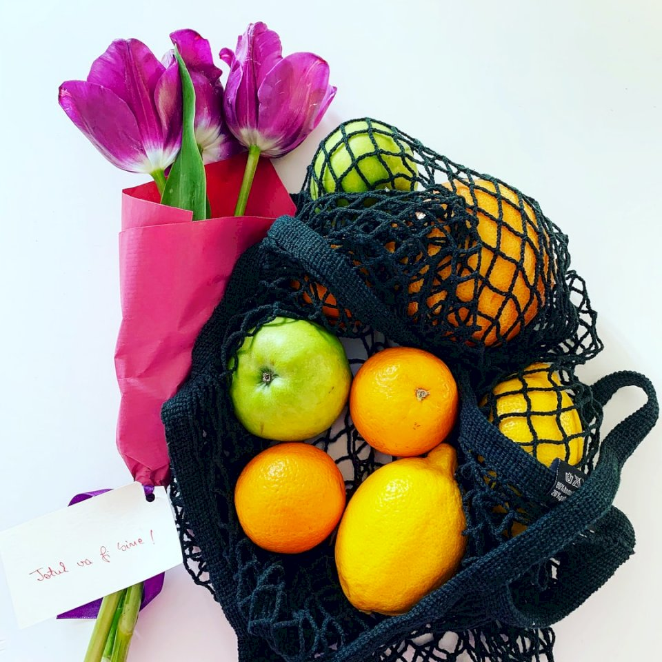 Everything will be alright - Yellow lemon fruit on black and brown basket.