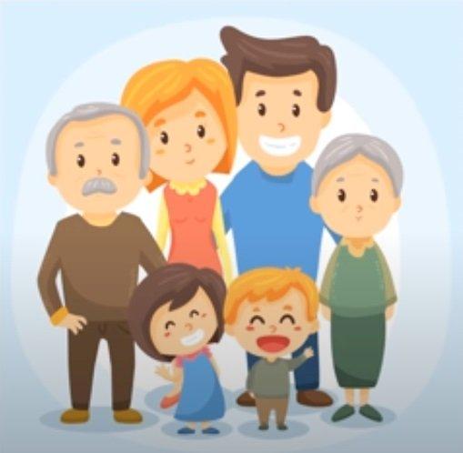 Una familia de cuentos de hadas que se organizará en línea - Organice los rompecabezas que muestran la imagen familiar (4×4)
